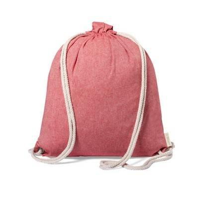 Worek ze sznurkiem i torba na zakupy z bawełny z recyklingu, 2 w 1